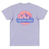 Branding Collection - Summit Tee in Washed Berry by Southern Marsh