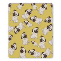 Pug Life Pattern Mouse Pad