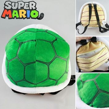 Super Mario party nes switch Hot cartoon children's 3D plush backpack cool  Bros plush school bag cosplay turtle bag toy for kindergarten boy girl AT_80_8