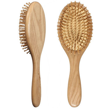 1Pcs Natural Wood Paddle Brush Combs Wooden Hair Care Spa Massage Comb Antistatic Comb Women Styling Brushes Tools Supplies