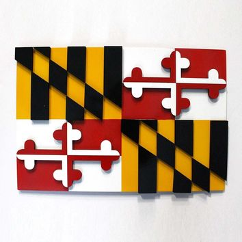 Maryland Flag / MDF 3-D Wall Decor