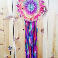 Huge Recycled Seashell Dream Catcher
