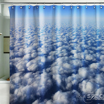 Bath Shower Curtain clouds in heaven flight flying atmosphere