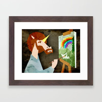 The Joy Of Rainbows Framed Art Print by thatssounicorny