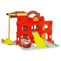 Playskool Wheel Pals Chuck Fold and Go Fire Station