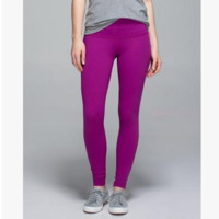 """Lululemon"" Printing yoga yoga pants Purple-Roses"