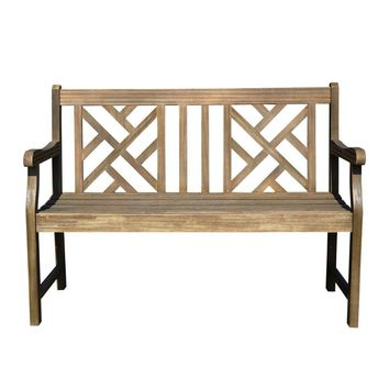 V1624 4-foot Outdoor Hardwood Garden Bench