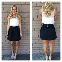 Bandage Flare Skirt - BLACK