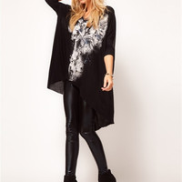 2015 European and American Style The Avant-Garde Rock and Roll T-Shirt Woemn Skull Dovetail Casual Dress