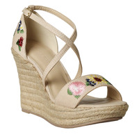 Poppy Embroidered Espadrille Wedges