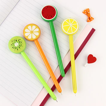 1 Pcs 0.5mm Korean Personality Fruit Lollipops Gel Pen Writing Stationery For Kids Gift Office School Supplies