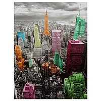 Oriental Furniture High-Lights of New York Skyline Canvas Wall Art - Home - Home Decor - Wall Decor - Wall Art