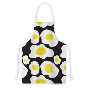 "Vasare Nar ""Fried Eggs Pattern"" Yellow Pop Art Artistic Apron"