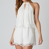 Tier Up Crochet Romper