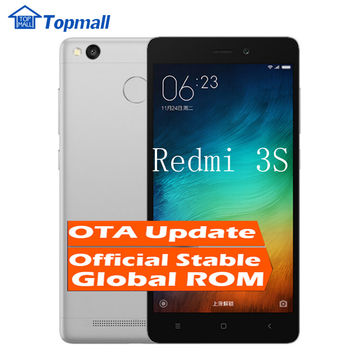"Original Xiaomi mobile phone Redmi 3S 16GB ROM Snapdragon 430 Mobile Phone 4100mAh Battery Fingerprint ID 5.0"" Metal Body"