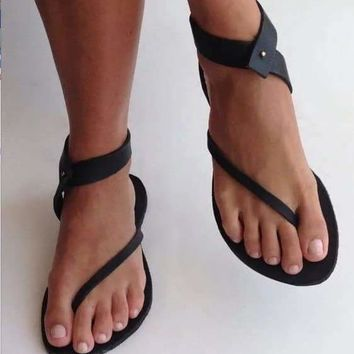 Vegan Leather Twisted Strappy Sandals