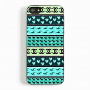red hollister seagulls chanel sign hearts stripes for iphone 5 and 5c case