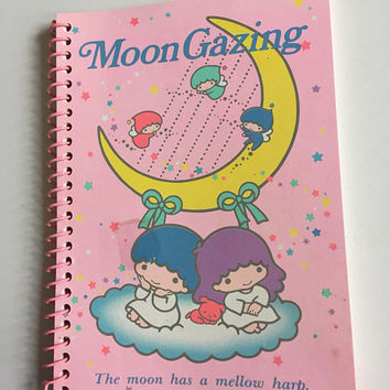 1984 vintage little twin stars notebook memo pad from sanrio japan