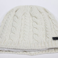 The North Face Women's Fuzzy Cable Vintage White Beanie Hat OS