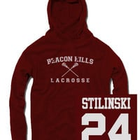 Stilinski Beacon Hills Lacrosse Hoodie - $24.99 | Poputees | Tees and hoodies with prints from popular TV shows and movies | poputees.com | Massachusetts