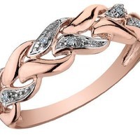 Diamond Ring in 10K Rose Gold