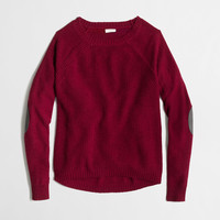 Factory warmspun swingy elbow-patch sweater : crewnecks & boatnecks | J.Crew Factory