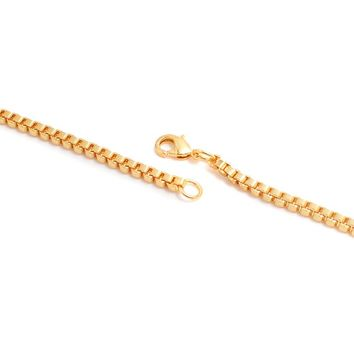 A Snake Chain thats either Gold/Silver Color, Long Necklace For Women Men.