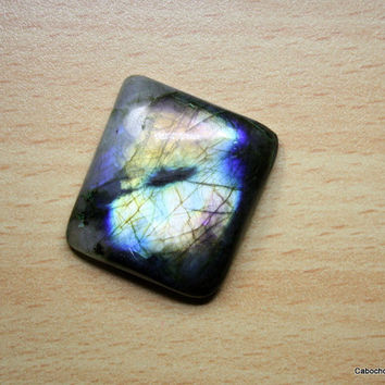 Evil Eye Natural Labradorite Cabochon,Loose Labradorite Palm stone Gemstones,30x28x8, Rectangle Labradorite, EVIL EYE Labradorite