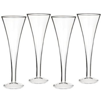 Marquis by Waterford Entertaining Collection Vintage Classic Trumpet Flute, 6.7-Ounce, Set of 4