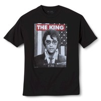 Men's Elvis The King Graphic Tee - Black