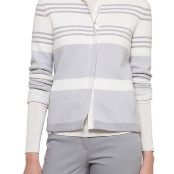 Akris Stripe Knit Cashmere Jacket | Nordstrom