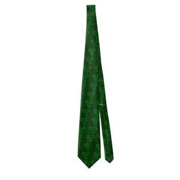 Three Green Shamrocks Tie