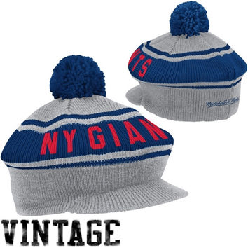 Mitchell & Ness New York Giants Road Caddy Knit Hat - Ash