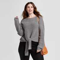 Women's Plus Size Tie Front Pullover - Universal Thread™