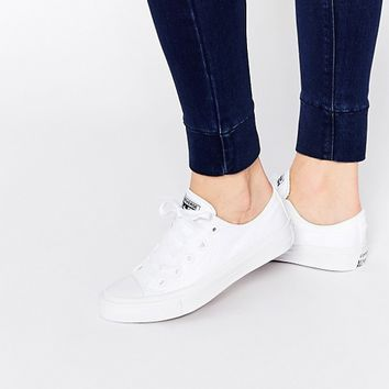 Converse All Star Chuck Taylor Pure White Ox II Plimsoll Trainers at asos.com