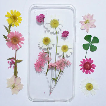 iPhone 6s Case tpu, iPhone 6s Case Clear, pressed flower iPhone 6 Case tpu, iPhone 6s Case, iPhone 6s Plus Case,pressed flower iphone case