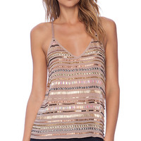 Tularosa x REVOLVE Crystal Cami in Blush