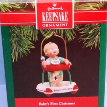 1990 Baby's First Christmas Hallmark Retired Ornament