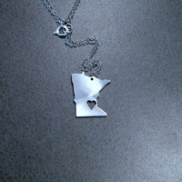 I Heart Minnesota Necklace by ArtisanGerard on Etsy