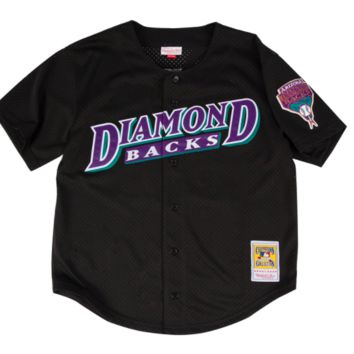 Randy Johnson Black Arizona Diamondbacks Authentic Mitchell & Ness BP Jersey