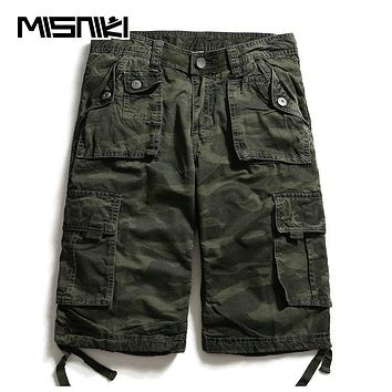 Summer Cotton Cargo Men Shorts Casual Camouflage Men's Shorts Multi-pocket High Quality Shorts