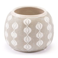 Libre Planter Small White & Gray
