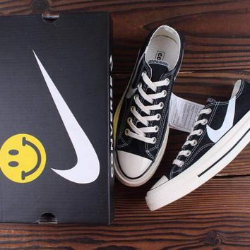 HCXX Chinatown Market x Nike x Converse Chuck Taylor All Star 1970s Canvas Skate Shoes Black Whtie