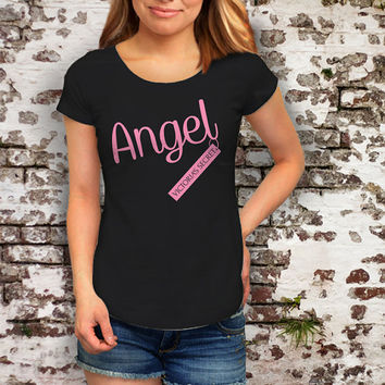 Angel Victoria's Secret Mode Premium Fashion Printed T Shirt, Women T Shirt, (Various Color Available)