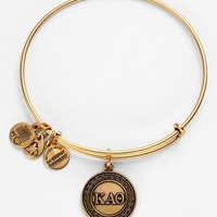 Women's Alex and Ani 'Kappa Alpha Theta' Expandable Wire Bangle