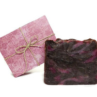 Chocolate Cranberry Soap, Handmade Soap, Vegan Soap, Gift under 10