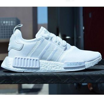 ADIDAS Women Running Sport Casual NMD Shoes Sneakers White