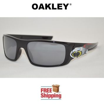 OAKLEY® SUNGLASSES CRANKSHAFT™ TROY LEE DESIGNS POLISHED BLACK W/ IRIDIUM LENS