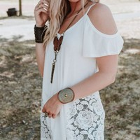 Lace Cold Shoulder Tee