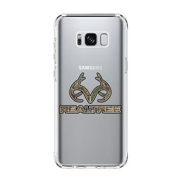 REALTREE CAMO LOGO Samsung Galaxy S4 S5 S6 S7 Edge Clear Case